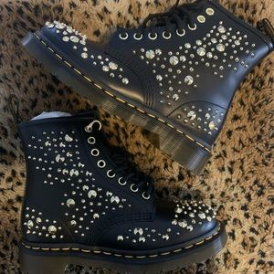 NWT Studded Gold Doc Marten boot Size 6